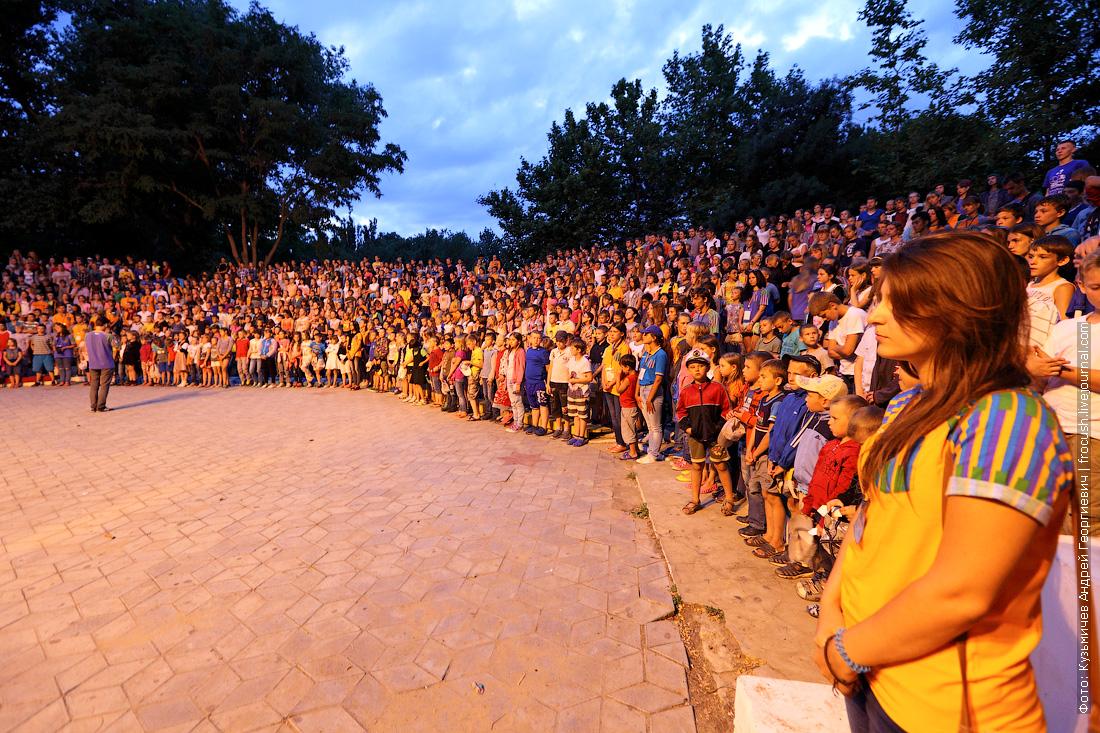 минута молчания в детском лагере