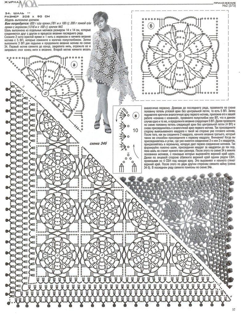 Журнал по вязанию шалей крючком