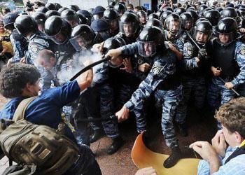 На Украине было расформировано подразделение `Беркут`