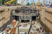 Строительство станции Тропарёво