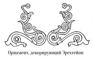Орнамент из завитков, декорирующий Эрехтейон афинского акрополя