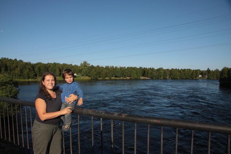 Плотина в Беломорске