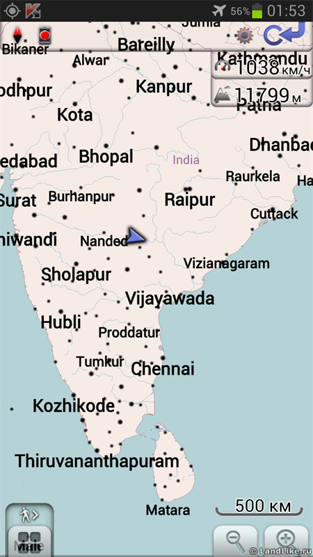 Пролетая над Индией
