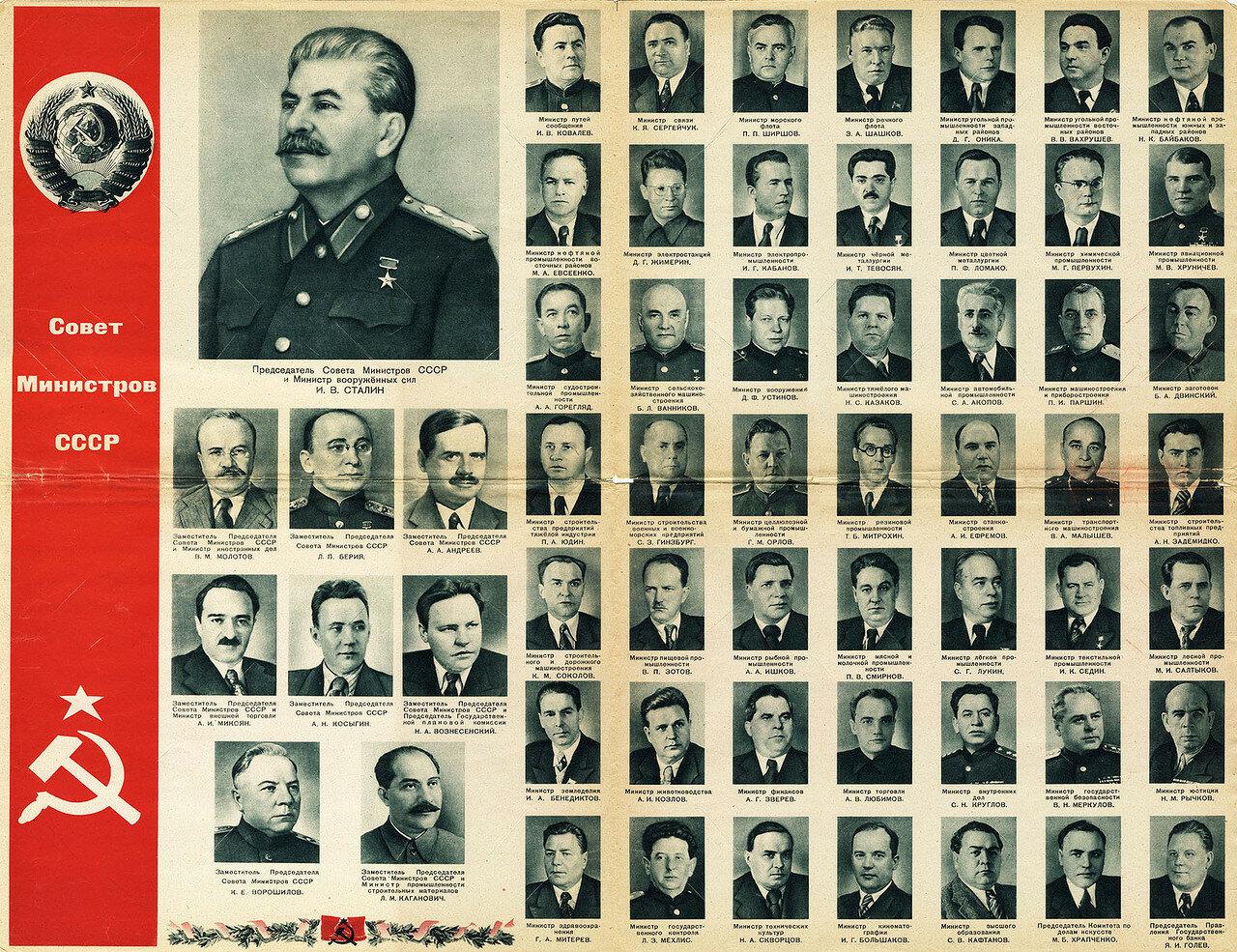 Руководящие органы СССР в 1946 году.  (По материалам советской прессы).