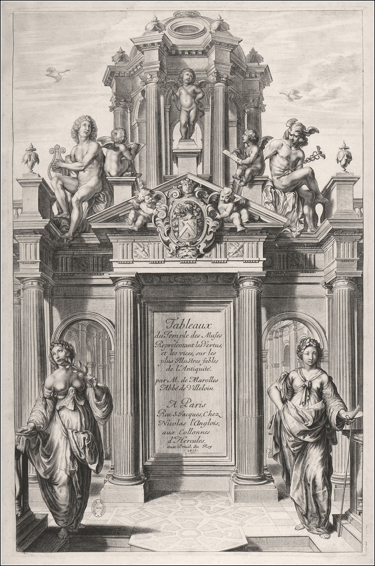 Tableaux du temple des muses tirez du cabinet de feu Mr Favereau