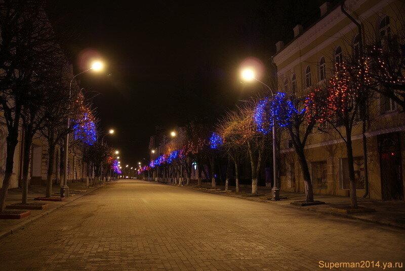 ночной Смоленск  - улица Ленина