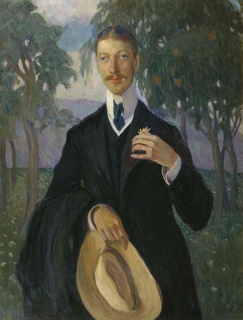 Ольга Кардовская. Портрет Гумилева (1909)