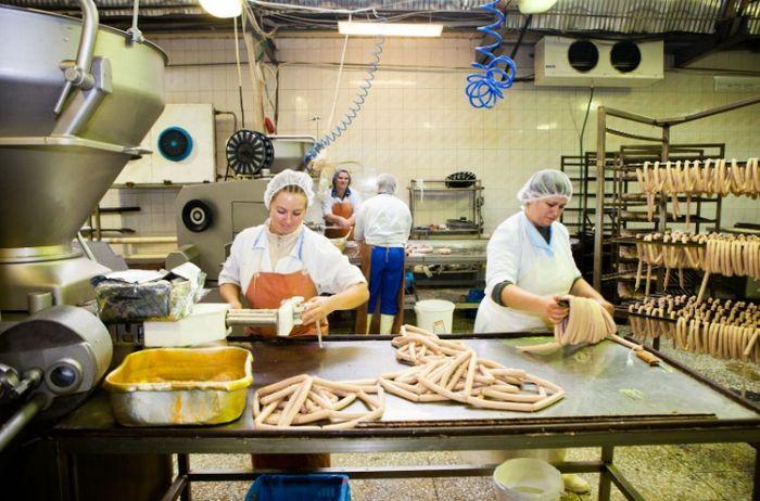 Производство колбасы