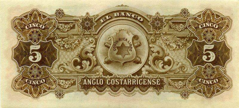 Коста-Рика, 5 колонов, 1911