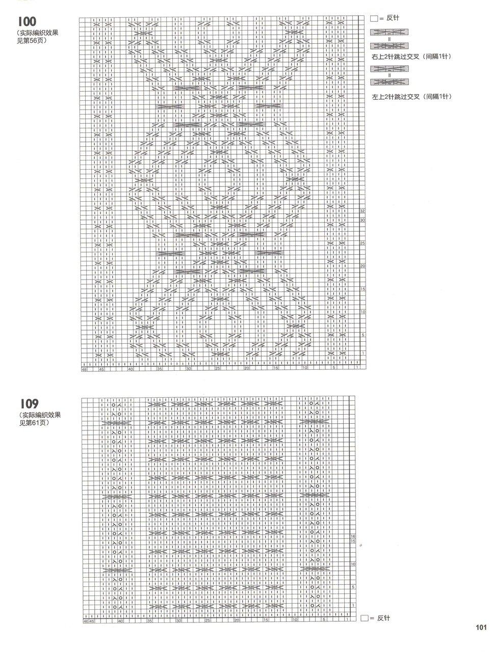 冈本启子的创意棒针编织花样精选150(2) - 彩凤双翼 - 彩凤双翼