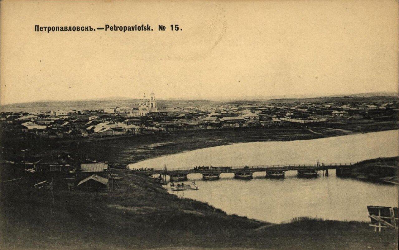 Вид на Подгорье и мост через реку Ишим