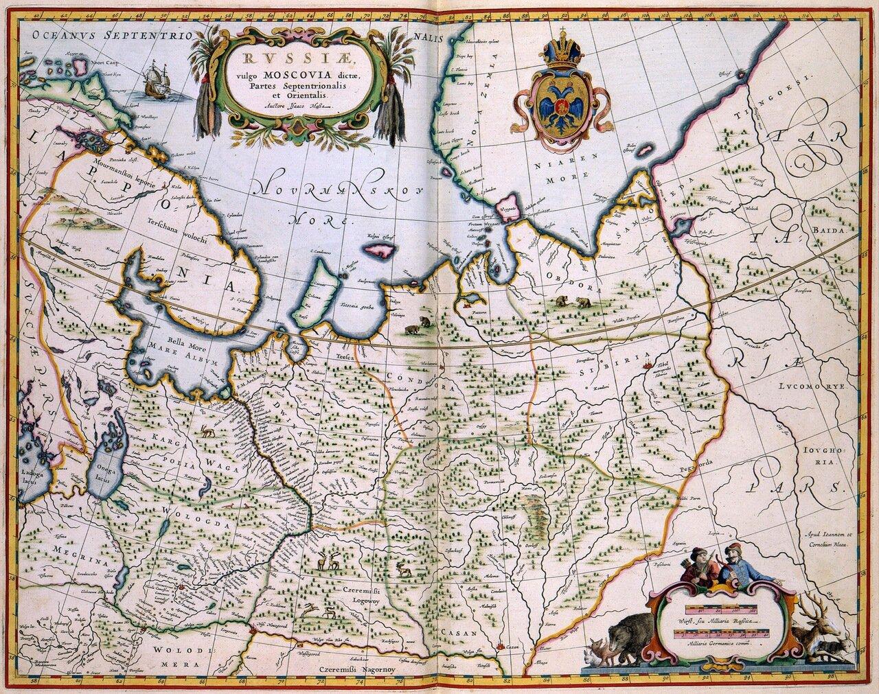 Карта Московии