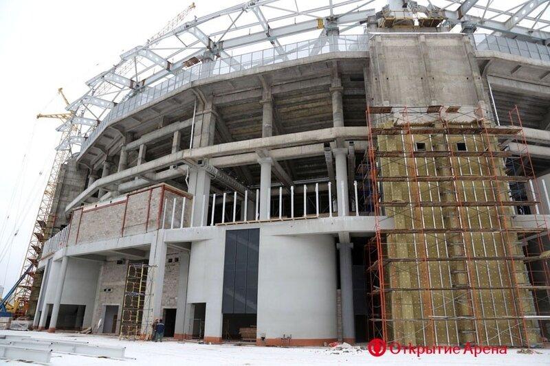 Строительство стадиона «Спартак». Начало декабря 2013 (Фото)