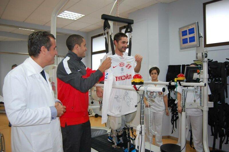 Игроки «Спартака» навестили больных в «Госпитале имени Мигеля Домингеса» в Испании (Фото)