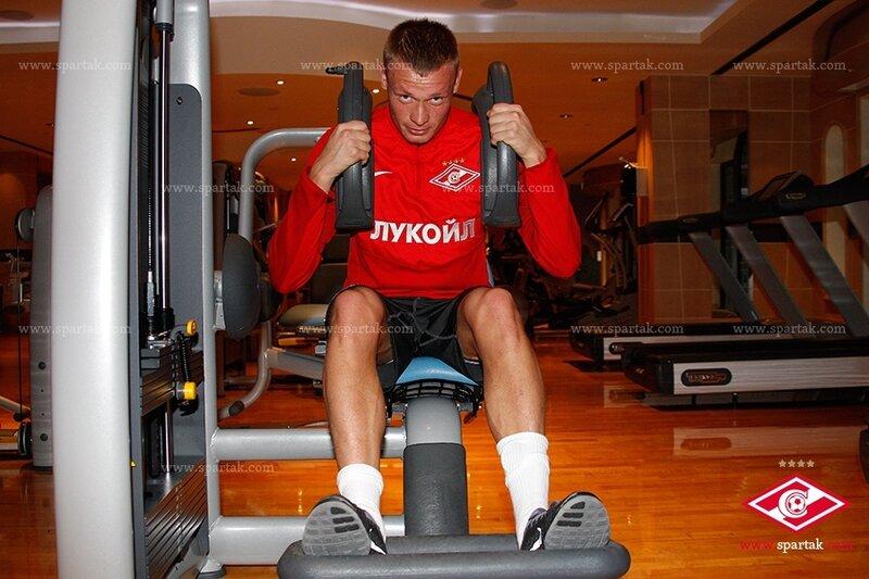 Тренировка «Спартака» на песке и в тренажерном зале (Фото)