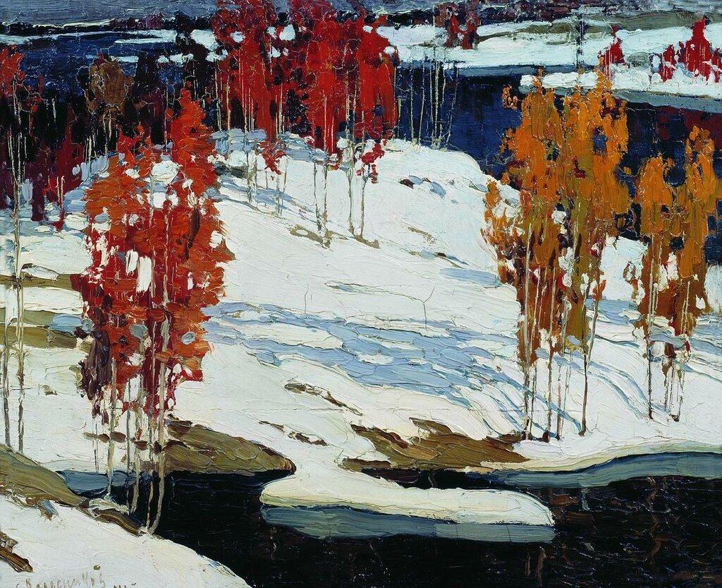 Первый снег. 1905  Колесников