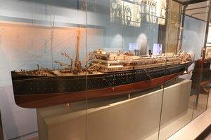 Морской музей Барселоны. Пассажирский пароход начала 20 века