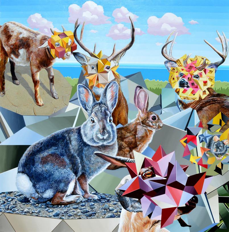 Surreal Geometric Paintings by Juan Travieso