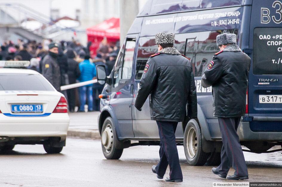 Олимпийский огонь в Саранске. Полиция