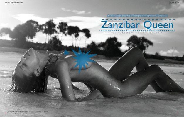Виктория Евсеева / Viktoriya Evseeva as Zanzibar Queen in Volo Magazine issue 10 december 2013