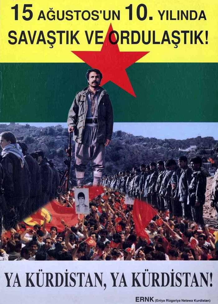 15 августа 1984 года - 10 лет с момента начала партизанской войны Рабочей партией Курдистана