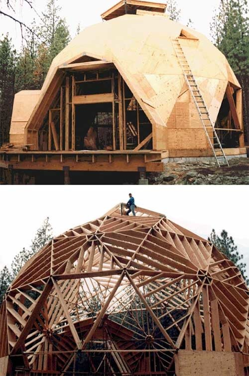 Дом на основе геодезического купола