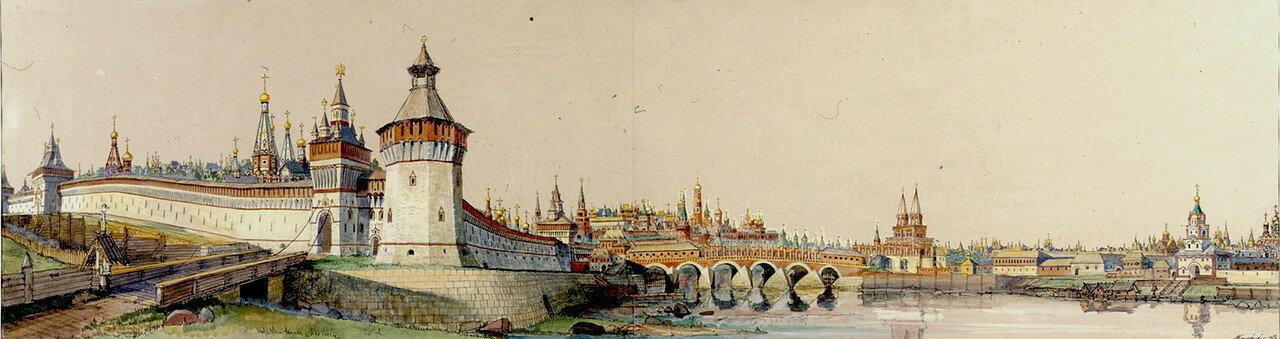Вид на центр города с юго-запада, от церкви Св. Ильи Обыденного в 17 веке..jpg