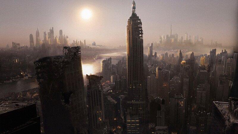 Город будущего,обои высокого разрешения 1980х1280