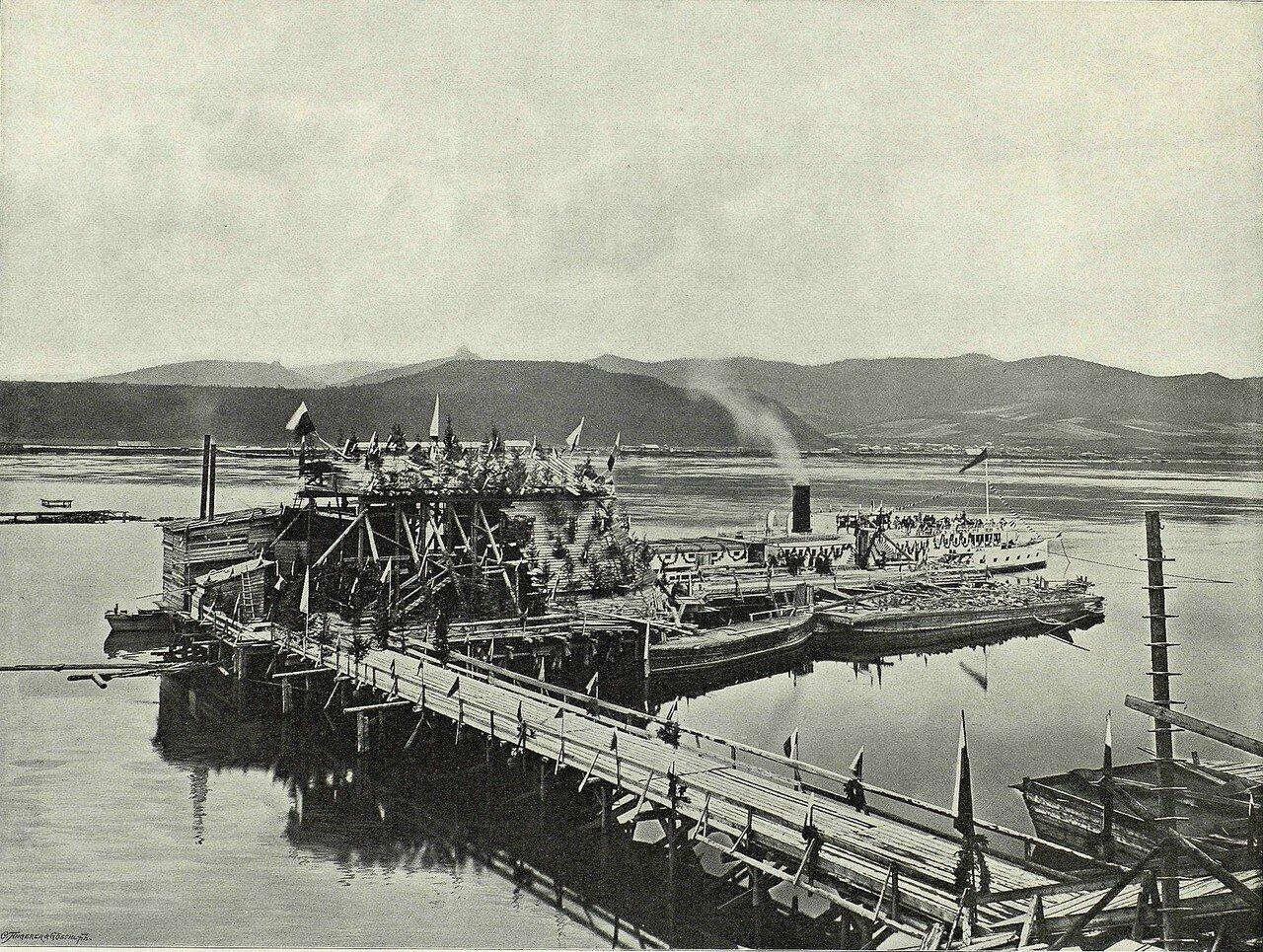 Гулянье перед закладкой Енисейского моста