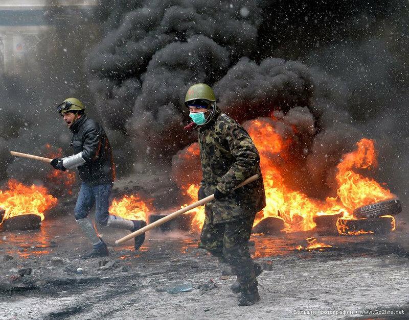 Евромайдан: первая кровь так называемого мирного протеста