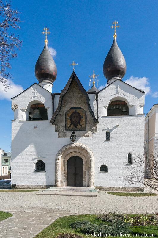 Западный фасад Xрама Покрова Пресвятой Богородицы в Марфо-Мариинской обители