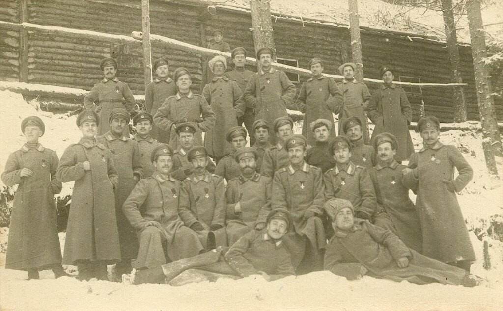 Russian Imperial soldiers during WWI, 1914-17