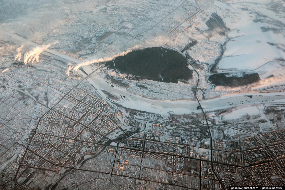 Кемерово. Фотографии из окна самолета