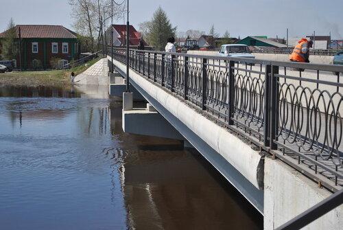 Река Омь выходит из берегов