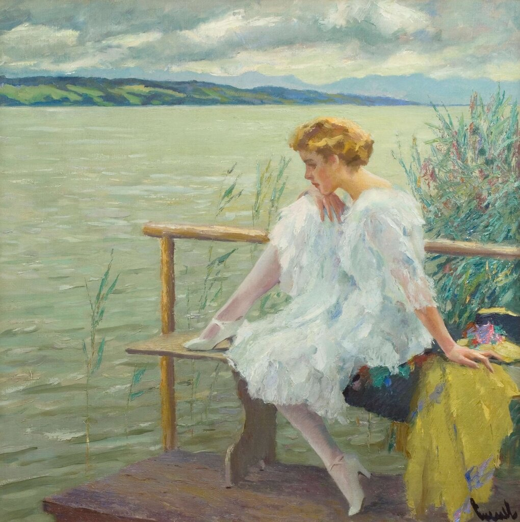 Edward Cucuel (1879 - 1954).By the Water's Edge.jpg
