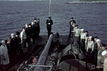 1940-01-01 Мужчин судна на палубе. Примечание: Слайд отмечает на представление. Место: Представление о