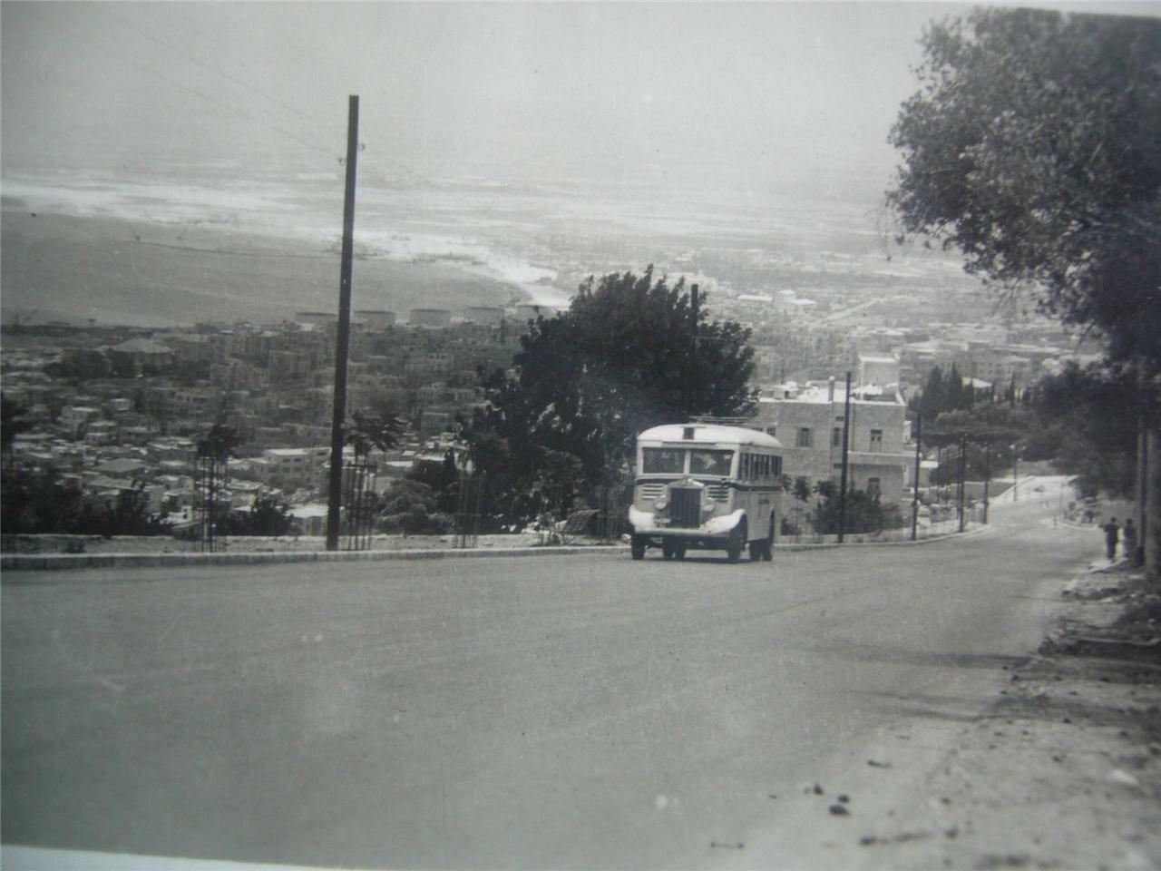 Дорога на гору Кармель (сейчас а-ционут)
