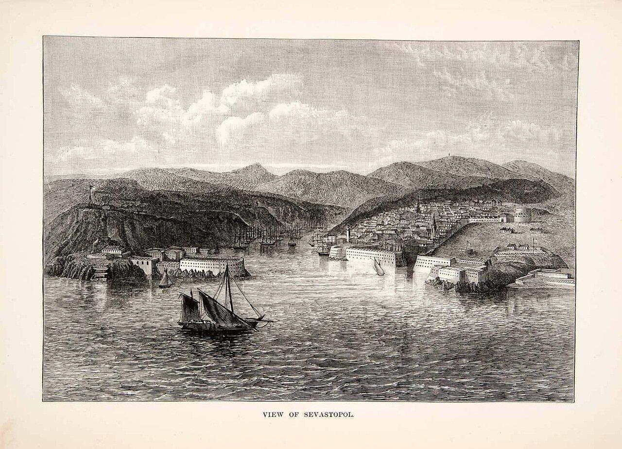1881. Крым. Панорама Севастополя
