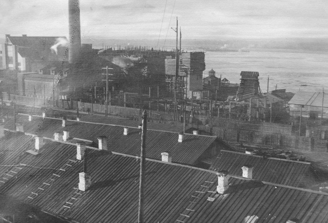1915. Общий вид строящейся станции