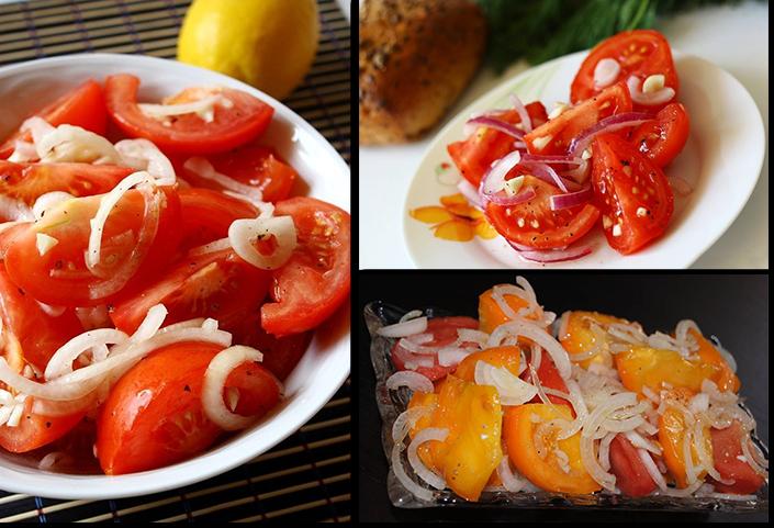 помидоры закусочный салатный вариант рецепт