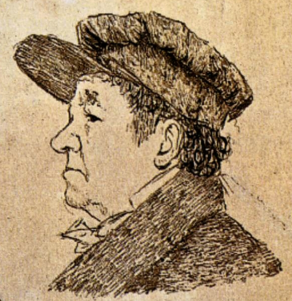 Гойя, Автопортрет, 1824 г., Гойя-и-Лусьентес, Франсиско Хосе де(1746 – 1828),Francisco José de Goya y Lucientes