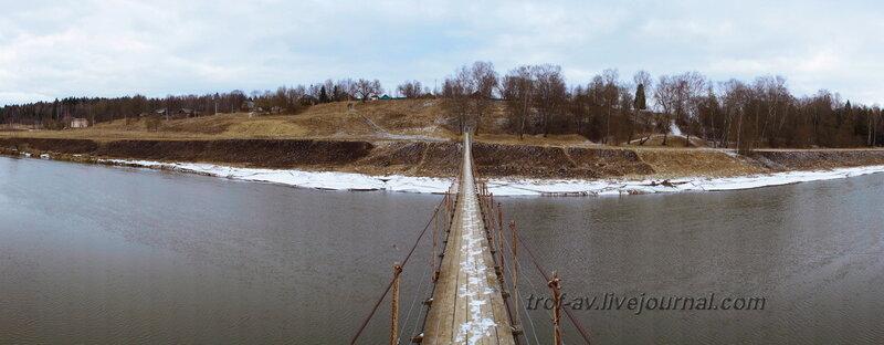 Подвесной пешеходный мост через Москва-реку, Марс-Марково