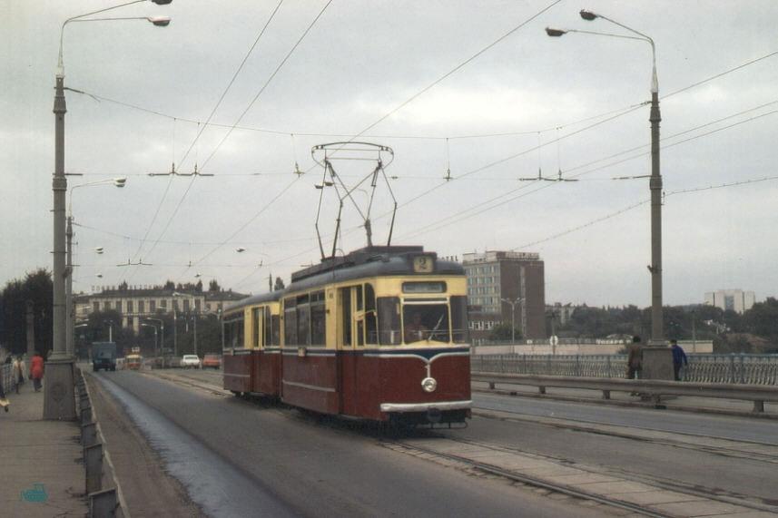 Трамвай на центральном мосту (1978 год)