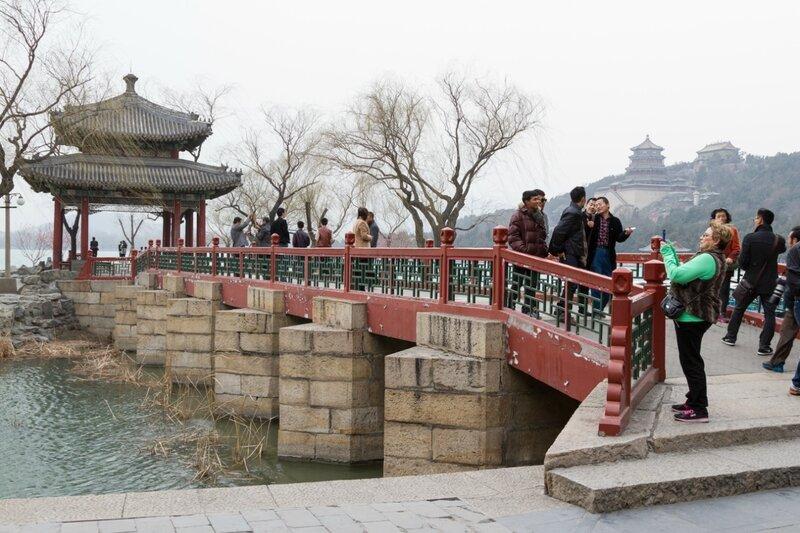 Павильон, возвещающий весну, парк Ихэюань, Летний дворец, Пекин
