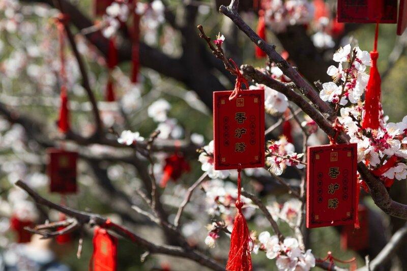 Таблички с желаниями, парк Сяншань, Пекин