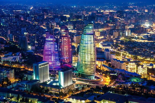 Пламенные Башни (Flame Towers). Баку, Азербайджан