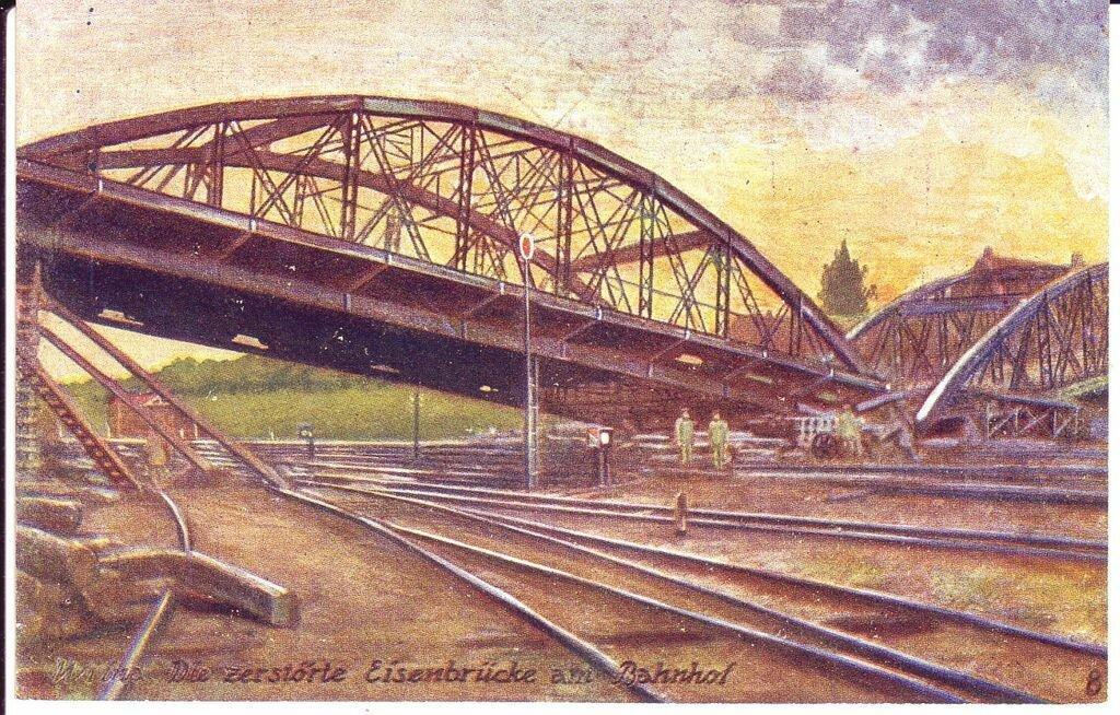Мост в Ново-Вилейке. 1915