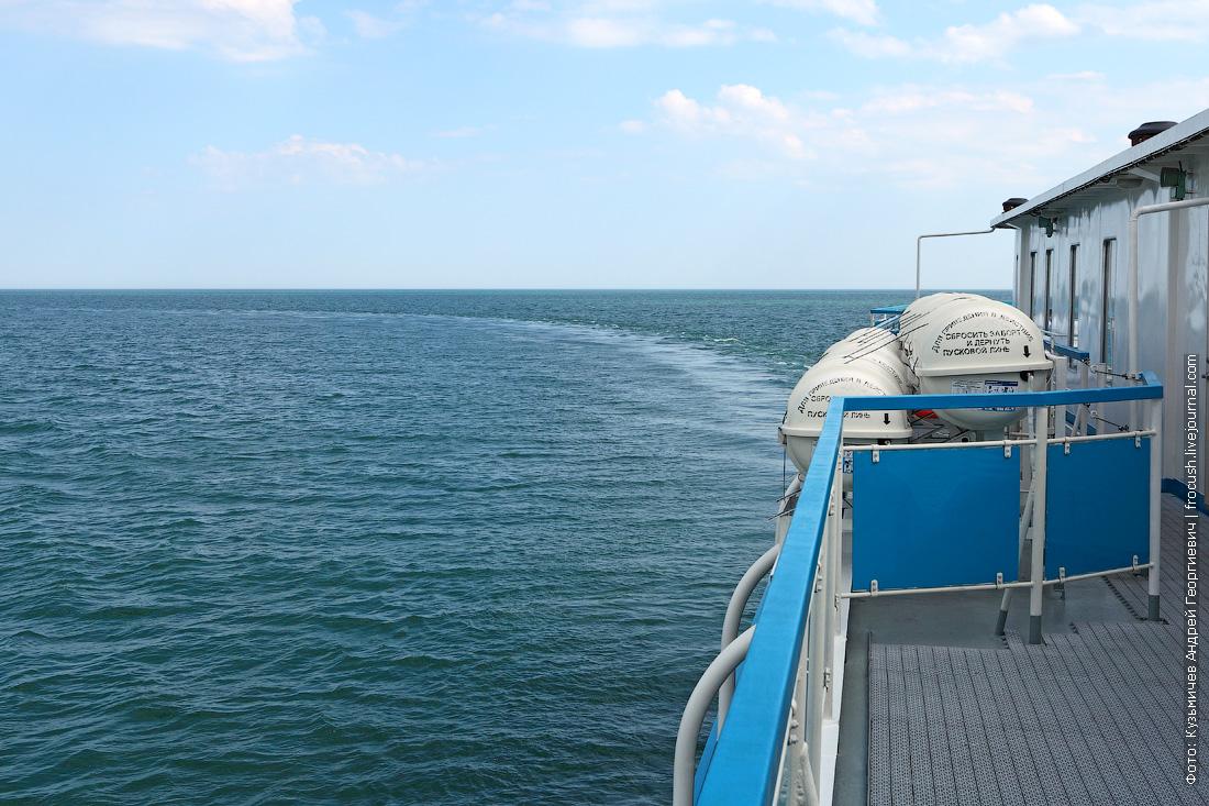 поворот на Волго-Каспийский судоходный канал
