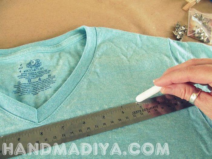 Переделываем футболку в тунику. Remade in a tunic shirt