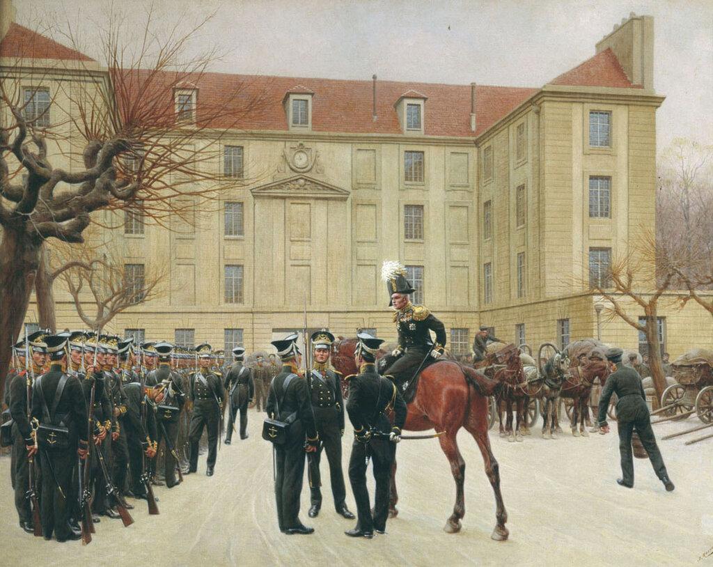 Розен И. С. Гвардейский экипаж  в Париже. 1814-b.jpg